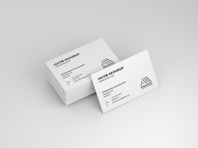 Business card for carpenter graphic design business card