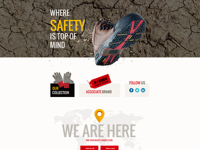 Webpage for safety shoe