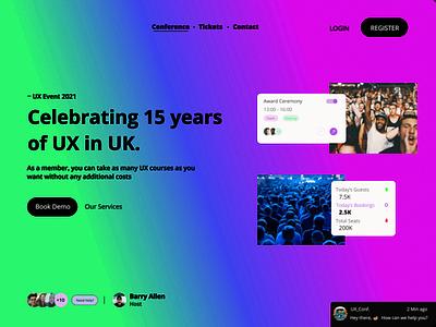 UX Landing Page web ux design