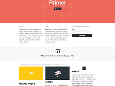 Primer WP Theme wordpress theme website clean minimal