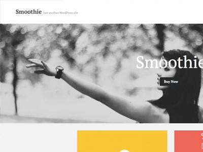 'Smoothie' WP Theme wordpress theme premium theme clean minimal portfolio