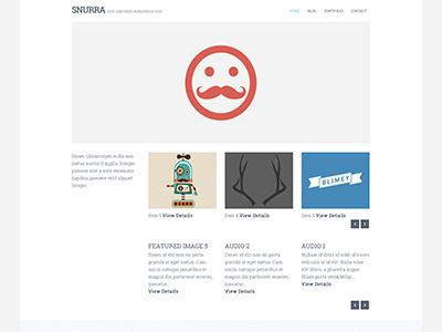 Snurra WP wordpress web design clean minimal white modern website template