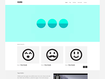 Kubb Theme wordpress clean minimal theme ninebase