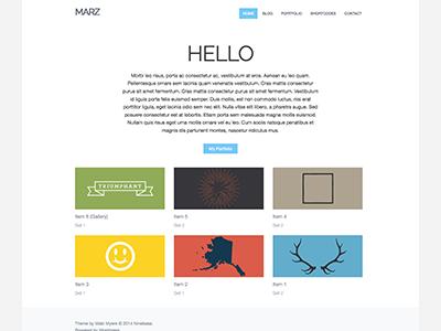 Marz Theme wordpress clean minimal theme ninebase