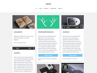 Hutt Theme wordpress clean minimal theme ninebase