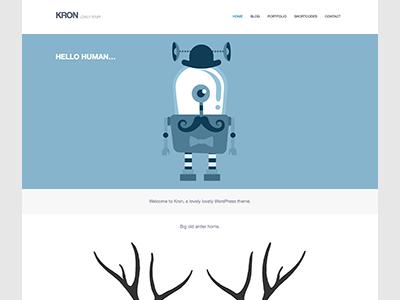 Kron Theme wordpress clean minimal theme ninebase