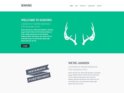 Konung Theme wordpress clean minimal theme ninebase