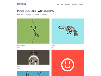 Kron Portfolio wordpress clean minimal theme ninebase