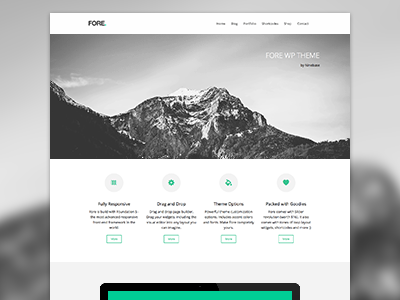 Fore wordpress theme premium theme clean minimal portfolio multipurpose white