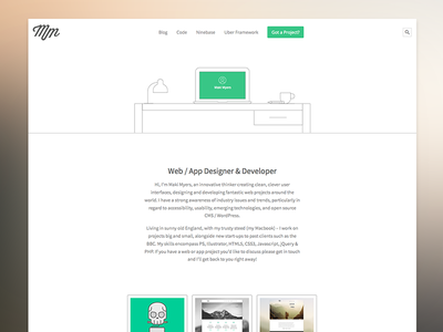 Personal Site website personal clean minimal freelance bootstrap