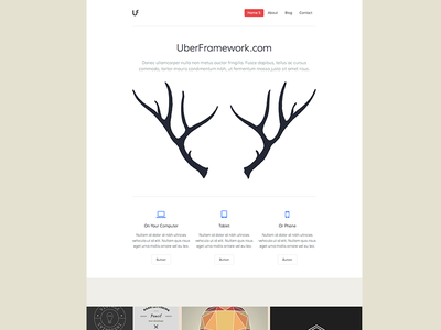 UberFramework Shot 3 wordpress theme template