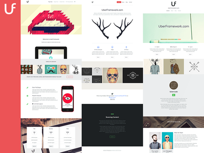 UberFramework Overview wordpress theme design page blocks