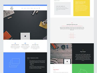 UberFrame 2 wordpress theme design flat wp html css website layout