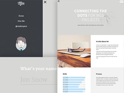 Personal Site website web design branding flat responsive wordpress