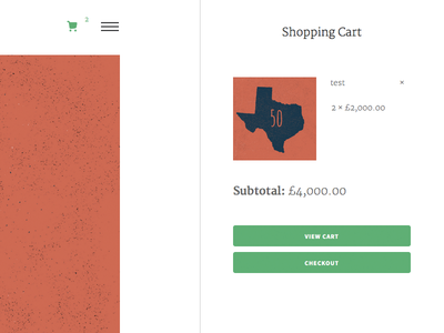 Off-canvas Cart off-canvas clean css html minimal wordpress woocommerce