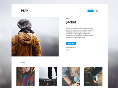 Peak WooCommerce Theme Dev mobile commerce woocommerce website css html wp flat theme wordpress