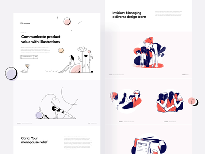 Illustrations 2020 ux ui landing page design illustration behance animation
