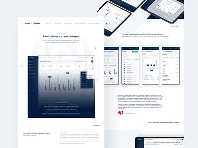 Mailgun: Email delivery, supercharged ui design product design mailing dashboad webdesign website ux ui
