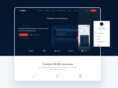 Mailgun: Email delivery, supercharged mailing web app website webdesign ux product design ui