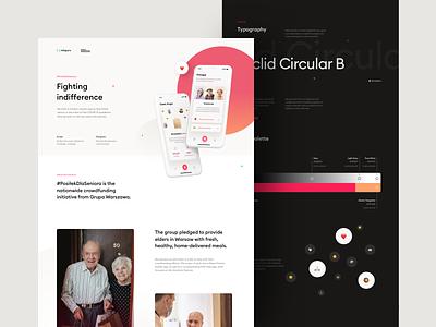 #PosiłekDlaSeniora – Fighting indifference design ux mobile product design app ui