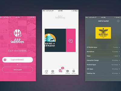 Inbbbox - Inbox for Dribbble ios ui animation protype inbbbox dribbble inbox