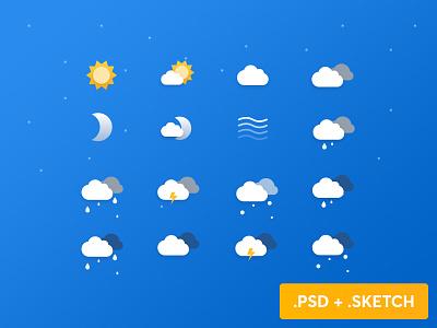 Free Weather Icons calendar wind moon snow icon set cloud sun weather icons freebie free