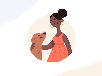 Pet Parent Landing Page Illustration dog character branding homepage landingpage web illustration