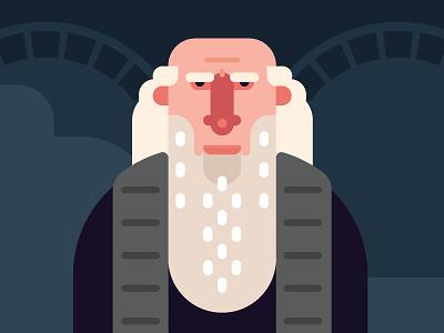 Leonardo da Vinci davinci hero old beard mona lisa lisa mona pastel colour flat illustration
