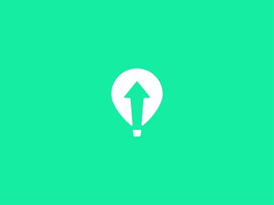 Daily Logo #2 Hot Air Balloon lift app web ios dailylogochallenge airballoon ballon logo branding ux ui