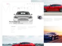 Tesla Model S Landing Page