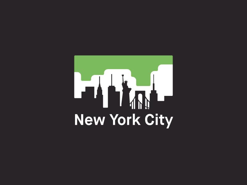 New York City colors flat skyline new york vector graphic tshirt