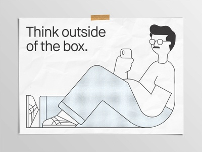 Think Outside Of The Box Print