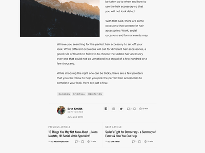 Haute Hijab Article Page islam article page article design article blog typography design ui web