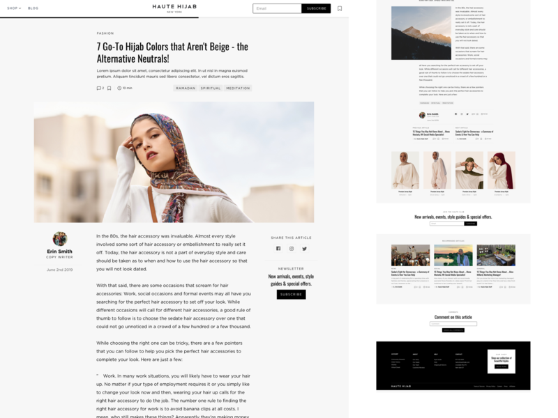 Haute Hijab Article Page