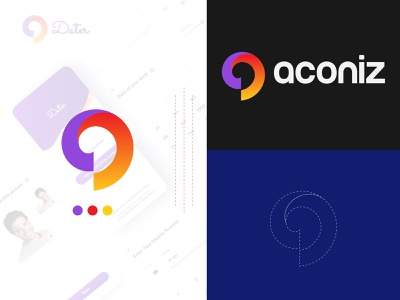 aconiz, Modern a Logo a to z startup colroful agency brand creative business professional letter simple type mark abstract logo modern logo logo trend 2021 logo app icon modern a a