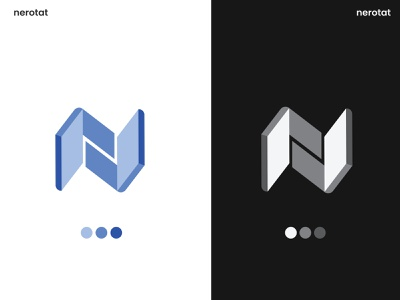 Modern N logo monogram business dribbble letter initial mark logo type software logo tech arrow digital agency marketing investment app logo abstract unique creative simple logo modern n