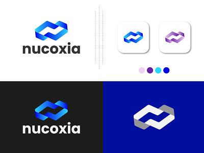 nucoxia, modern n logo, lettermark monogram simple creative professional business modern n n dribbble a to z modern app logo logo design type colorful gradient abstract letter mark barnd