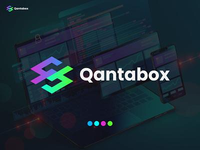 qantabox, qb Logo, agency modern sketch best logo designer app logo marketing agency technology abstract software logo logo design brand identity brand mark monogram creative logo simple logo qb b q