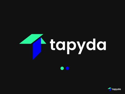tapyda, Modern T Logo brand identity startup symbol abstract app logo software logo trip bill pay trip money order balance transfer transaction getway service technology payment modern t logo t