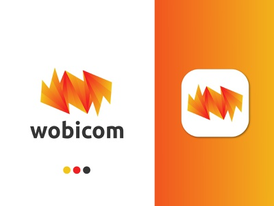 wobicom logo concept for a Telecom company logo design ecommerce vector gradient unique logo business commercial logo app logo internet connection networking communication telecom logo design modern w logo lettermark abstract modern logo branding