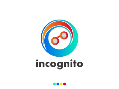 incognito Logo Design, Cute Incognito logo design brand logo colorful gradient modern creative logo ecommerce professional logo business logo hacking internet protocol cyber agency networking anonym anonymous incognito logo brand identity branding