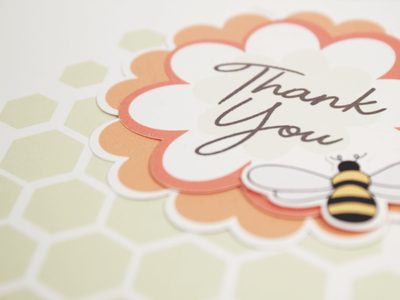 i'm beein' thankful | thank you card illustration diecut typography design