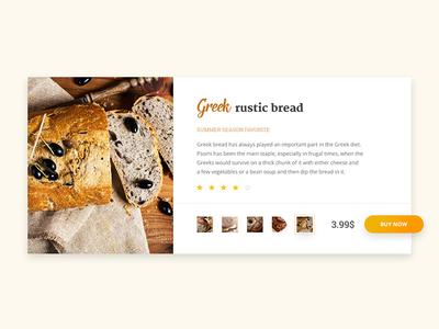 Bakery card ui menu cake bread order food bakery