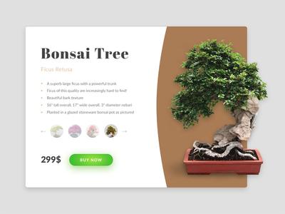 Bonsai product card ui shadow interface flat diffuse bonsai