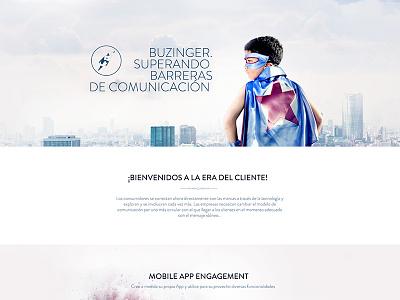 Web responsive Buzinger  responsive web user interfaces interaction theme visual designer interaction designer art direction design ux ui