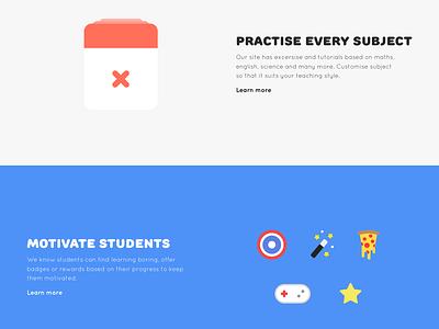 Wizkids Redesign flat web education learning school fun gradient ux ui redesign design web design