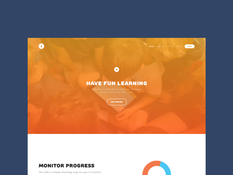 Wizkids Redesign flat web education learning school fun gradient ux ui redesign design web design
