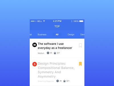 Final, Name TBD ios feed news feed feedback mockup app news iphone