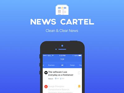 News Cartel ios feed news feed feedback mockup app news iphone