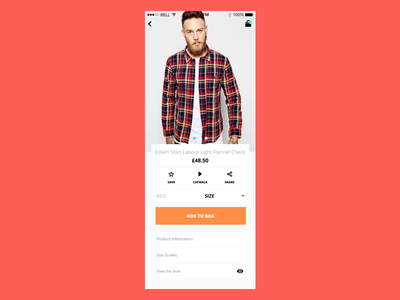 Product View shopping product mockup design ux ui